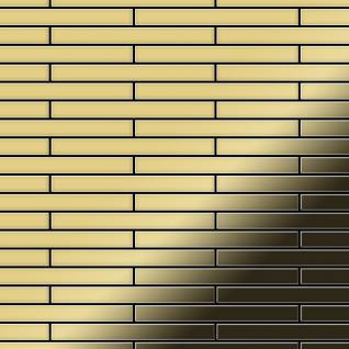 Mosaik Fliese massiv Metall Messing gewalzt in gold 1, 6mm stark ALLOY Deedee-BM 0, 78 m2