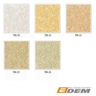 Uni Tapete EDEM 706-21 Hochwertige Luxus Heißpräge Struktur Tapete gelb gold bernstein-gelb - Vorschau 4
