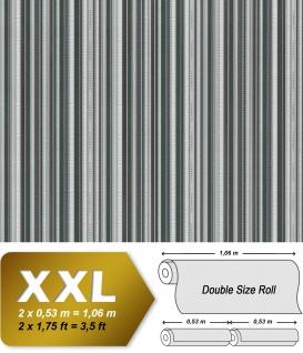 Streifen Tapete EDEM 81161BR38 heißgeprägte Vliestapete mit metallischen Akzenten grün anthrazit grau silber 10, 65 m2