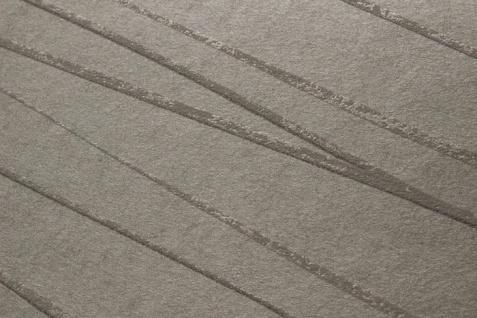 Edle Streifen Tapete Atlas COL-568-0 Vliestapete glatt Design schimmernd grau stein-grau silber 5, 33 m2 - Vorschau 2