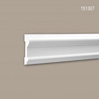 Wand- und Friesleiste PROFHOME 151307 Stuckleiste Zierleiste Wandleiste Neo-Klassizismus-Stil weiß 2 m
