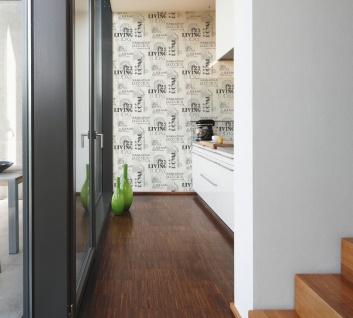 Grafik Tapete Profhome 368122-GU Vliestapete glatt mit abstraktem Muster matt schwarz weiß 5, 33 m2 - Vorschau 3