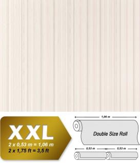 Streifen Vliestapete EDEM 967-20 XXL hochwertige Designer Tapete weiß crème grau pastell violett 10, 65 qm