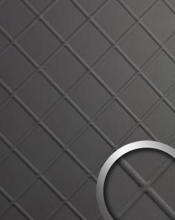 Dekorpaneel Leder Optik WallFace 19546 CORD Charcoal Light Wandverkleidung geprägt in Nappaleder Optik matt selbstklebend grau 2, 6 m2