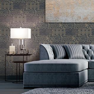 Barock Tapete Profhome VD219151-DI heißgeprägte Vliestapete geprägt im Barock-Stil glänzend blau beige 5, 33 m2 - Vorschau 2