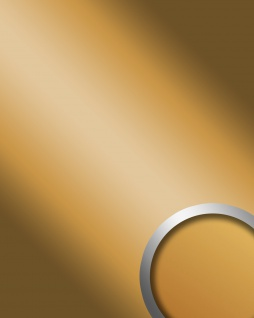 Wandpaneel Spiegel Dekor Glanz-Optik WallFace 10187 DECO GOLD Paneel Wandverkleidung selbstklebend gold 2, 60 qm