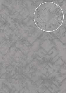 Grafik Tapete Atlas SIG-185-3 Vliestapete strukturiert mit abstraktem Muster schimmernd blau tauben-blau pastell-blau 5, 33 m2