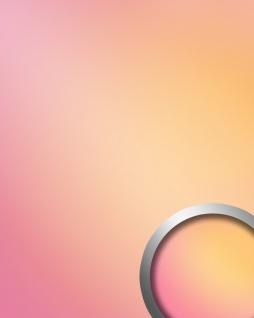 Glanz-Optik Wandverkleidung WallFace 18442 DECO HOLLYWOOD Wandpaneel Spiegel Design selbstklebend pink orange mehrfarbig 2, 60 qm