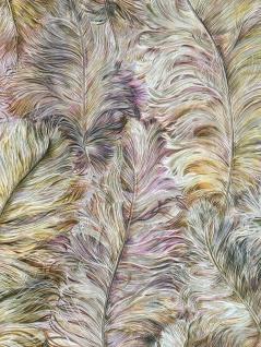 Exklusive Luxus Tapete Profhome 822205 Vinyltapete geprägt mit Federn glänzend violett alt-rosa gold-gelb silber 5, 33 m2