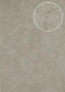 Spachtel-Putz Tapete Atlas INS-5079-3 Strukturtapete geprägt und Metallic Effekt platin platin-grau perl-hell-grau weiß-aluminium 7, 035 m2