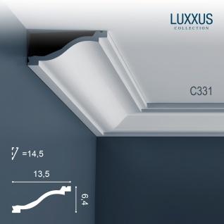 Stuckleiste Dekor Profil Orac Decor C331 LUXXUS Eckleiste Zierleiste Decken Wand Stuck Gesims Dekorleiste 2 Meter