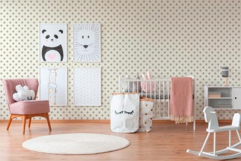 Kinder Tapete Profhome 369341-GU Vliestapete glatt mit geometrischen Formen matt beige rosa weiß 5, 33 m2 - Vorschau 3