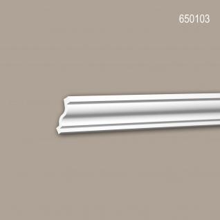 Eckleiste PROFHOME 650103 Stuckleiste Zierleiste stoßfest Neo-Klassizismus-Stil weiß 2 m