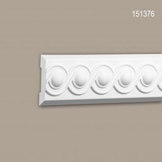 Wand- und Friesleiste PROFHOME 151376 Stuckleiste Zierleiste Friesleiste Neo-Klassizismus-Stil weiß 2 m