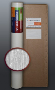 EDEM 80373BR60 1 Kart 4 Rollen XXL Vliestapete dekorative gestreifte struktur zum Überstreichen weiß 106 qm