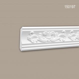 Eckleiste PROFHOME 150197 Zierleiste Stuckleiste Neo-Renaissance-Stil weiß 2 m