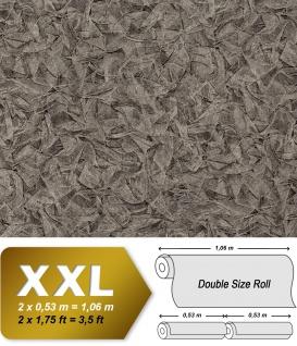 Struktur Tapete EDEM 9086-29 heißgeprägte Vliestapete geprägt unifarben schimmernd grau silber platin 10, 65 m2