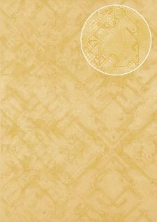 Grafik Tapete Atlas SIG-581-5 Vliestapete strukturiert mit abstraktem Muster schimmernd gelb elfenbein sand-gelb beige 5, 33 m2