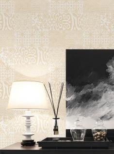 Barock Tapete Profhome VD219146-DI heißgeprägte Vliestapete geprägt im Barock-Stil glänzend creme gold 5, 33 m2 - Vorschau 2