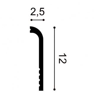 Sockelleiste Orac Decor SX185 LUXXUS CASCADE Zierleiste Stuckleiste Modernes Design weiß 2m - Vorschau 2