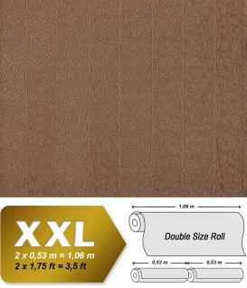 Streifen Tapete XXL Vliestapete EDEM 952-26 Geprägte Struktur Pelz Optik hochwertige Design Mustertapete braun schokobraun 10, 65 m2