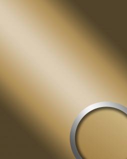 Wandpaneel Spiegel Design Glanz-Optik WallFace 11504 DECO GOLD Paneel Wandverkleidung selbstklebend gold   2, 60 qm