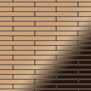 Mosaik Fliese massiv Metall Titan hochglänzend in kupfer 1, 6mm stark ALLOY Deedee-Ti-AM 0, 63 m2