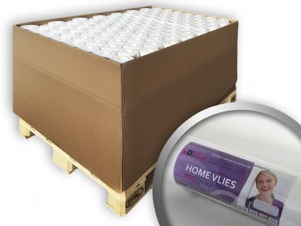 Renoviervlies HomeVlies 120 g glatte überstreichbare Vliestapete Anstrichvlies Malervlies weiß | 1 Pal. 2400 qm 96 Rol