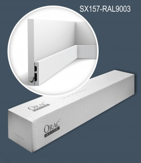 Orac Decor SX157-RAL9003-box 1 Karton SET mit 32 Sockelleisten Wandleisten bereits lackiert 64 m