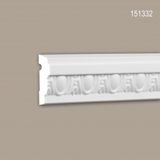 Wand- und Friesleiste PROFHOME 151332 Stuckleiste Zierleiste Wandleiste Neo-Klassizismus-Stil weiß 2 m