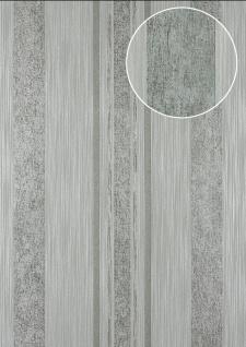 Streifen Tapete Atlas 24C-5059-2 Vliestapete glatt mit grafischem Muster und metallischen Akzenten grau silber platin 7, 035 m2