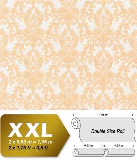 3D Barock Vliestapete XXL EDEM 696-94 Tapete klassischer Stil mit Schnörkeln XXL hell orange apricot beige | 10, 65 qm