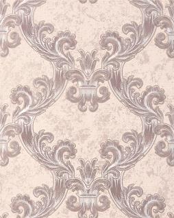 Barock Tapete EDEM 1026-13 Vinyltapete strukturiert mit Ornamenten und metallischen Akzenten creme beige silber 5, 33 m2