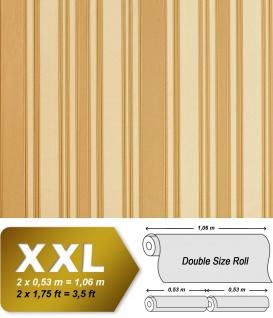 Streifen Tapete Vliestapete EDEM 980-32 Hochwertige Luxus Tapete gestreiftes Struktur-Dekor creme-beige karamell 10, 65 qm