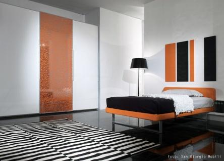 Wandpaneel Wandverkleidung Kunststoff WallFace 11713 BUBBLE Design Platte Blickfang Dekor selbstklebende Tapete orange silber 2, 60 qm - Vorschau 3