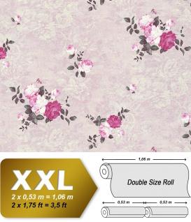 Blumen Tapete EDEM 9045-29 Vliestapete geprägt im romantischen Design matt rosa pink weiß 10, 65 m2