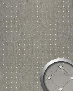 3D Wandpaneel Design Wandverkleidung Mosaik Dekor WallFace 17857 Luxus Paneel selbstklebend platin grau silber | 2, 60 qm