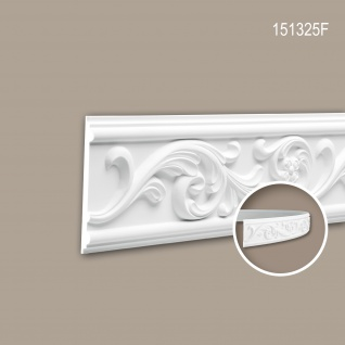 Wand- und Friesleiste PROFHOME 151325F Stuckleiste Flexible Leiste Zierleiste Rokoko Barock Stil weiß 2 m