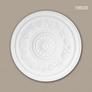 Rosette PROFHOME 156038 Zierelement Deckenelement Rokoko Barock Stil weiß Ø 40 cm