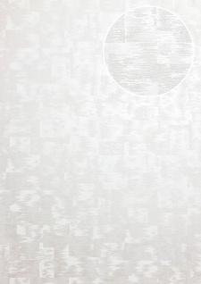 Ton-in-Ton Tapete ATLAS XPL-593-1 Vliestapete strukturiert mit abstraktem Muster schimmernd weiß beige licht-grau silber 5, 33 m2