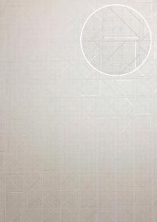 Grafik Tapete ATLAS XPL-591-2 Vliestapete strukturiert mit geometrischen Formen glänzend creme elfenbein hell-elfenbein weiß 5, 33 m2