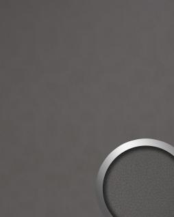 Dekorpaneel Leder Optik WallFace 19301 CHARCOAL LIGHT Wandpaneel glatt in Nappaleder Optik matt selbstklebend grau quarz-grau 2, 6 m2
