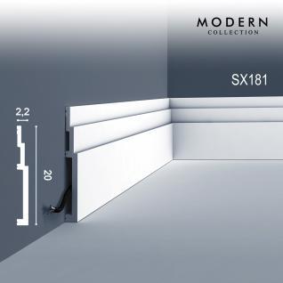 Orac Decor SX181 MODERN 1 Karton SET mit 7 Sockelleisten Zierleisten   14 m - Vorschau 2