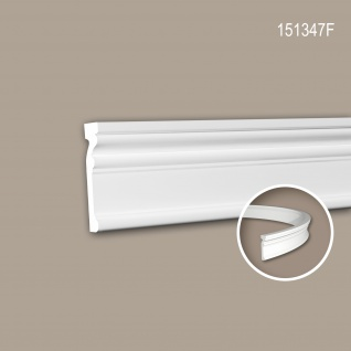 Wand- und Friesleiste PROFHOME 151347F Stuckleiste Flexible Leiste Zierleiste Neo-Klassizismus-Stil weiß 2 m
