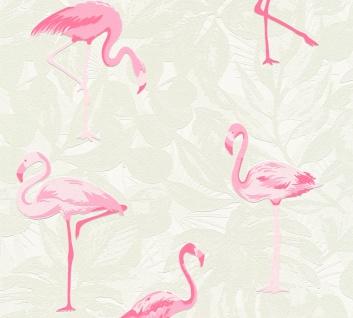 Kinder Tapete Profhome 359801-GU Vliestapete leicht strukturiert mit Kinder Muster matt rosa creme weiß 5, 33 m2