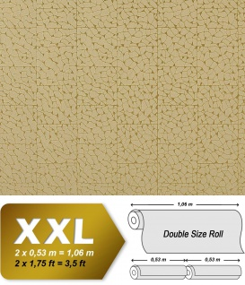 Stein Vliestapete EDEM 928-38 -Decor mosaik-fliesen-kacheln optik grün-beige gold 10, 65 qm
