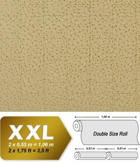 Stein Vliestapete EDEM 928-38 Luxus-Decor mosaik-fliesen-kacheln optik grün-beige gold 10, 65 qm