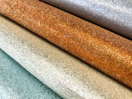 Luxus Glasperlen Wandverkleidung WallFace CBS13-4 CRYSTAL Uni Vliestapete handgearbeitet mit echten Glasperlen glänzend gold-braun 9, 80 m2 Rolle - Vorschau 4
