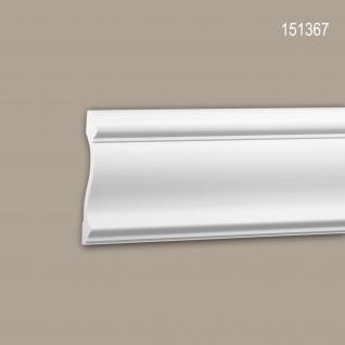 Wand- und Friesleiste PROFHOME 151367 Stuckleiste Zierleiste Friesleiste Neo-Klassizismus-Stil weiß 2 m