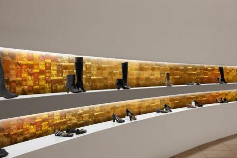 Wandverkleidung Vintage Look WallFace 19020 LUXURY HOLOGRAFICO Dekorpaneel glatt in Metall Optik holographisch selbstklebend gold 2, 6 m2 - Vorschau 2
